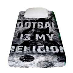 Football Is My Religion Fitted Sheet (single Size)
