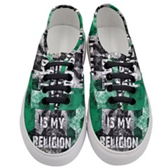 Football Is My Religion Women s Classic Low Top Sneakers