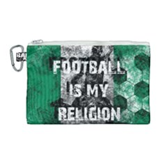 Football Is My Religion Canvas Cosmetic Bag (large) by Valentinaart