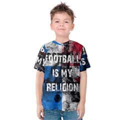 Football Is My Religion Kids  Cotton Tee