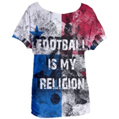 Football Is My Religion Women s Oversized Tee