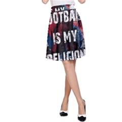 Football Is My Religion A Line Skirt by Valentinaart
