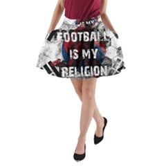 Football Is My Religion A-line Pocket Skirt by Valentinaart