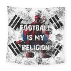 Football Is My Religion Square Tapestry (large) by Valentinaart