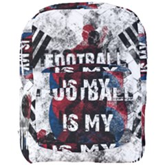 Football Is My Religion Full Print Backpack by Valentinaart
