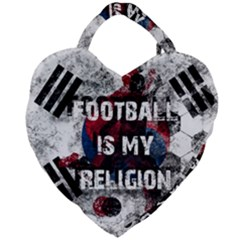 Football Is My Religion Giant Heart Shaped Tote by Valentinaart