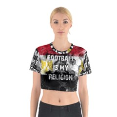 Football Is My Religion Cotton Crop Top