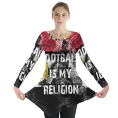 Football Is My Religion Long Sleeve Tunic  by Valentinaart