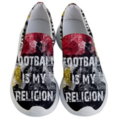 Football Is My Religion Women s Lightweight Slip Ons by Valentinaart