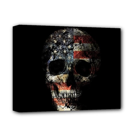 Skull Deluxe Canvas 14  X 11  by Valentinaart