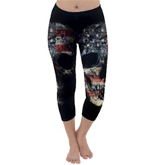 Skull Capri Winter Leggings