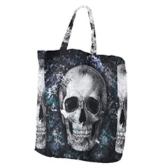 Skull Giant Grocery Zipper Tote by Valentinaart