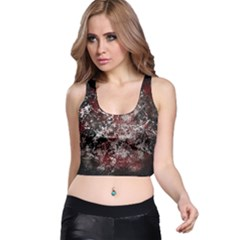 Grunge Pattern Racer Back Crop Top