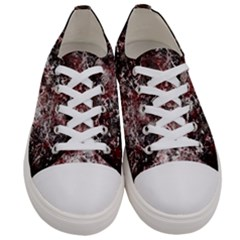 Grunge Pattern Women s Low Top Canvas Sneakers