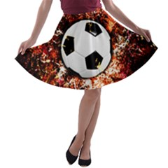 Football  A Line Skater Skirt by Valentinaart