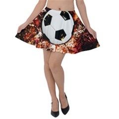 Football  Velvet Skater Skirt by Valentinaart