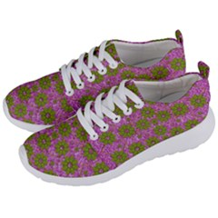 Paradise Flowers In Bohemic Floral Style Men s Lightweight Sports Shoes by pepitasart