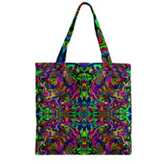 Colorful 15 Zipper Grocery Tote Bag by ArtworkByPatrick