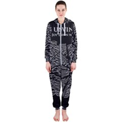 Moving Units Collision With Joy Division Hooded Jumpsuit (ladies)  by Samandel