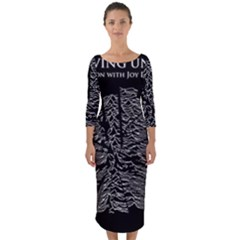Moving Units Collision With Joy Division Quarter Sleeve Midi Bodycon Dress