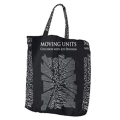 Moving Units Collision With Joy Division Giant Grocery Zipper Tote