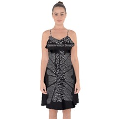 Moving Units Collision With Joy Division Ruffle Detail Chiffon Dress