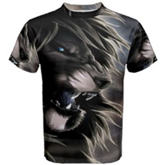 Angry Male Lion Digital Art Men s Cotton Tee