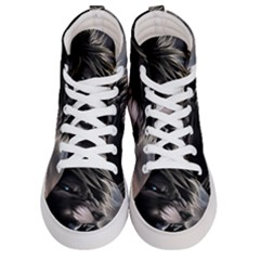 Angry Male Lion Digital Art Men s Hi Top Skate Sneakers