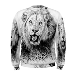 Lion Wildlife Art And Illustration Pencil Men s Sweatshirt