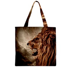 Roaring Lion Zipper Grocery Tote Bag