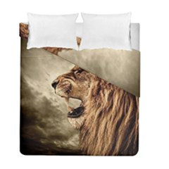 Roaring Lion Duvet Cover Double Side (full/ Double Size) by Samandel