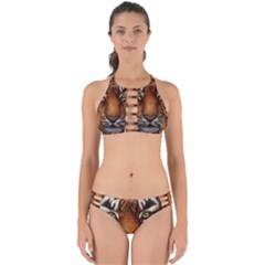 The Tiger Face Perfectly Cut Out Bikini Set