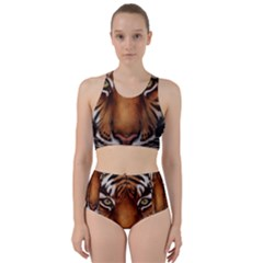 The Tiger Face Racer Back Bikini Set