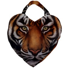 The Tiger Face Giant Heart Shaped Tote