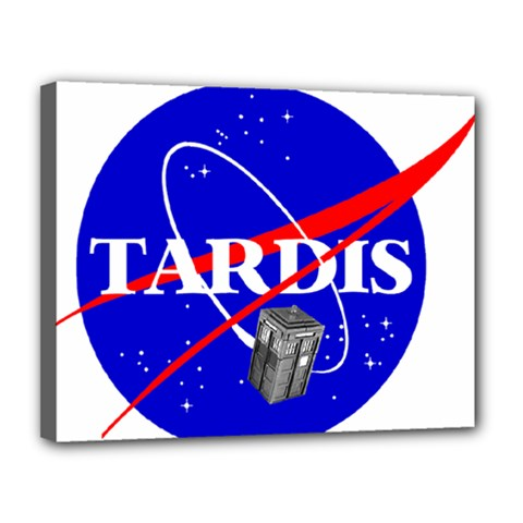 Tardis Nasa Parody Canvas 14  X 11