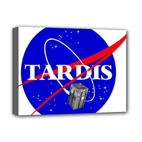 Tardis Nasa Parody Deluxe Canvas 16  X 12