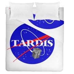 Tardis Nasa Parody Duvet Cover Double Side (queen Size)