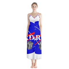 Tardis Nasa Parody Button Up Chiffon Maxi Dress by Samandel