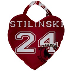 Stilinski Teen Wolf Beacon Hills Lacrosse Giant Heart Shaped Tote by Samandel