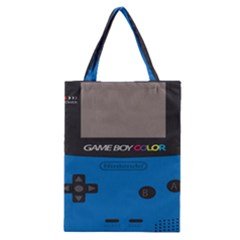 Game Boy Colour Blue Classic Tote Bag by Samandel