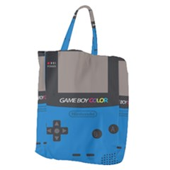 Game Boy Colour Blue Giant Grocery Zipper Tote