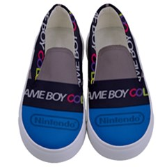 Game Boy Colour Blue Kids  Canvas Slip Ons