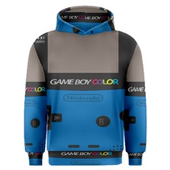 Game Boy Colour Blue Men s Overhead Hoodie