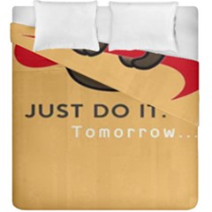 Sloth Just Do It Tomorrow Duvet Cover Double Side (king Size)