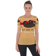 Sloth Just Do It Tomorrow Short Sleeve Top