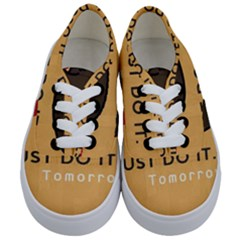 Sloth Just Do It Tomorrow Kids  Classic Low Top Sneakers
