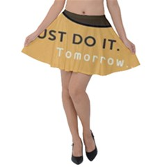 Sloth Just Do It Tomorrow Velvet Skater Skirt