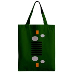 Jeep Simple Logo Zipper Classic Tote Bag by Samandel
