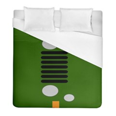 Jeep Simple Logo Duvet Cover (full/ Double Size) by Samandel