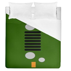 Jeep Simple Logo Duvet Cover (queen Size) by Samandel